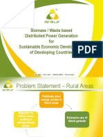 Presentation Biomass Waste Based Distributed Power Generation