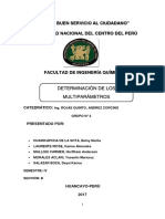 Informe 4 Determinación de Multiparámetros