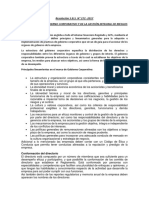 Resolución Gobierno Corporativo - Gestión Integral Riesgos