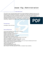 Database Administration Course Content