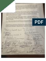 Carta de congresistas del Partido