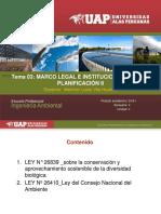 III Sesión Marco Legal e Institucional Para La Planifciación Ley Cons, As de La Diver Biol, Ley Conam