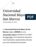 Universidad Nacional Mayor de San Marcos - Wikipedia, La Enciclopedia Libre