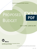 Metro's Fiscal Year 2019 Proposed Budget