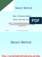 4. Secant Method