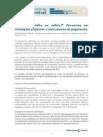 Dinheiro Debito Credito Estudos Especiais 1