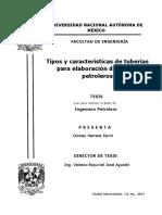 Tipos y Características de Tuberías Para Elaboración de Pozos Petroleros
