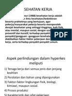 Kesehatan Kerja ( Pert Ke 3)