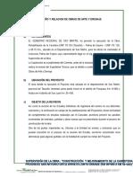 Revision Del Diseño y Relacion de Obras de Arte y Drenaje