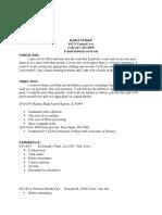 kaitlyn balch resume  current