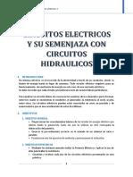 Circutos Electricos y su semenjanza con circuitos hidraulicos
