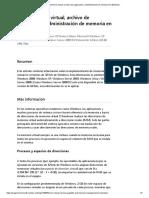 RAM, Memoria Virtual, Archivo de Paginación y Administración de Memoria en Windows