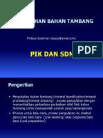 PIK-12. Pengolahan Bahan Tambang