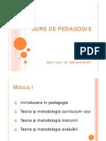 Curs Pedagogie Adriana Nicu