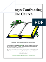 Challenges Confronting the Church