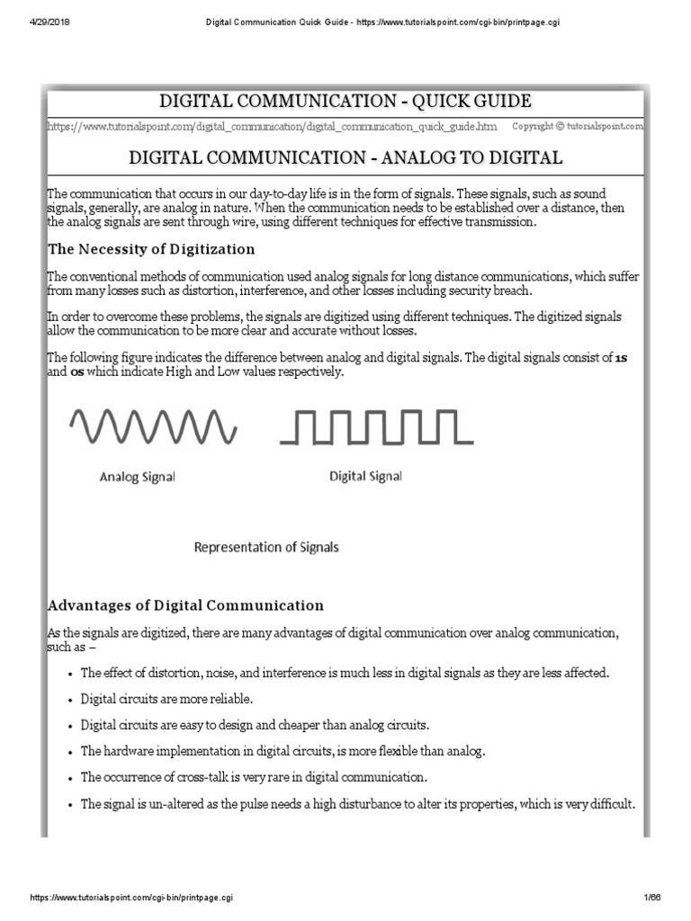 Data Communication Computer Network Tutorial Digital Signal