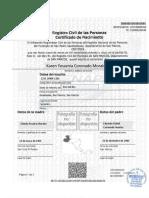 Certificado. Renap