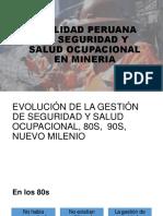 REALIDAD PERUANA DE SEGURIDAD Y SALUD OCUPACIONAL mineria en el peru
