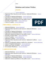 Industrial Relations and Labour Welfare - Lecture Notes, Study Material and Important Questions, Answers
