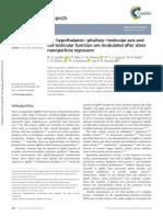 Cavallin El Eje Hipotalámico-pituitario-testicular y La Función Testicular Se Modulan Después de La Exposición a Nanopartículas de Plata