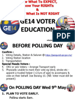 Guide to GE14 Voter Education 101 Ver 2