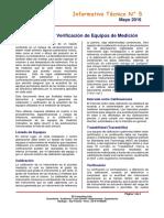 InformativoTecnico N5 Calibracion y Verificacion de Instrumentos de Medicion