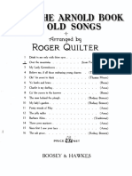 From the Arnold Book of Old Songs - Quilter