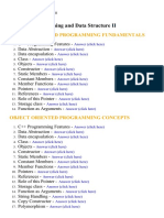 Programming and Data Structure II - Lecture Notes, Study Material and Important Questions, Answers