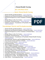 Psychiatric Mental Health Nursing - Lecture Notes, Study Material and Important Questions, Answers