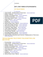 Television and Video Engineering - Lecture Notes, Study Material and Important Questions, Answers