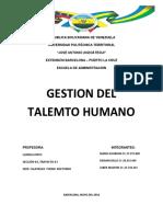 Gestion Del Talento Humano Daimar Bello