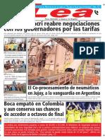 Periódico Lea Jueves 03 de Mayo Del 2018