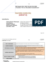 Teaching Guide for critical approaches in teaching Philippine Literature