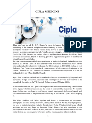 Cipla Medicine | Pharmaceutical Drug | Pharmaceutical Industry