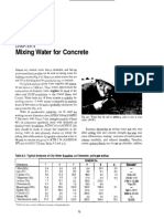 Mixing Water for Concrete