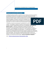 A Realização Regular de Análises e Previsões Macroeconômicas Da65s Finanças Públicas