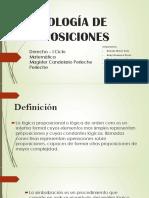 Simbología de Proposiciones