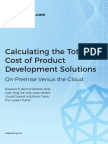 TCO of Cloud for Product Development