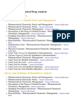 Pharmaceutical Drug Analysis - Lecture Notes, Study Material and Important Questions, Answers