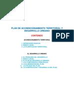 Plan de Acondicionamiento Territorial y Desarrollo Urbano