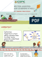 Hypertext, Hypermedia and Multimedia for Improving the Language Skills