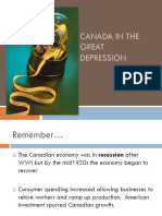 canada in the great depression - causes