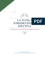 TUTELA JURISDICCIONAL EFECTIVA EN LA JURISPRUDENCIA DEL TRIBUNAL CONSITUCIONAL