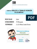 Plan de Vacunacion de Las Americas Maraypata