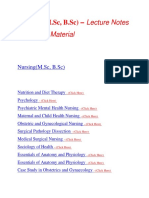 Nursing - Lecture Notes, Study Material and Important Questions, Answers