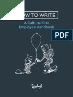 How to Write a Culture First Employee Handbook