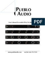 Puebloaudio Ps34 Users Manual