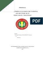 Proposal Kegiatan Hut Pgri Dan Hari Guru Nasional