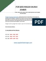 DISTRIBUTOR BATA RINGAN MURAH JEMBER 082257888307
