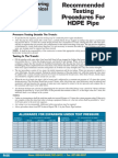 HDPE Testing in Pipes